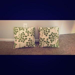 Pier1 square throw pillows